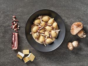 Gefüllte Gnocchi mit Speck und Brie